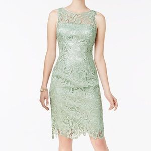 ADRIANNA PAPPELL, Mint Green Lace Dress